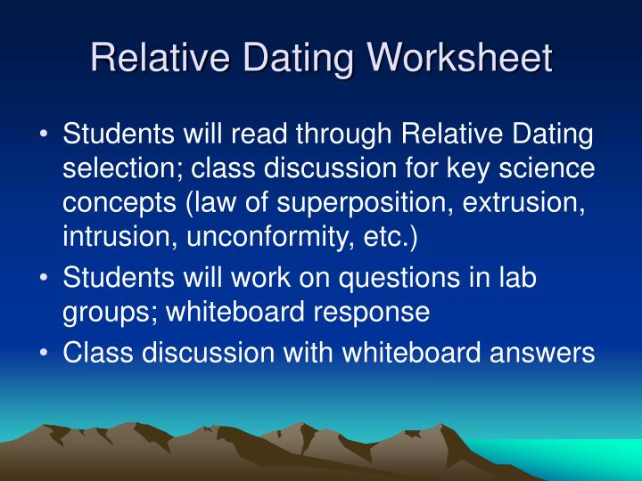 relative dating puzzles