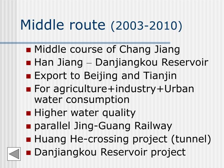 Middle route