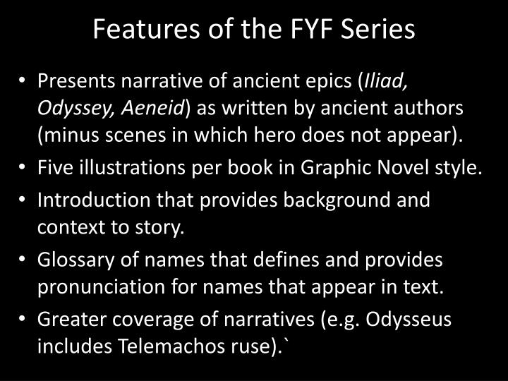 Features of the FYF Series