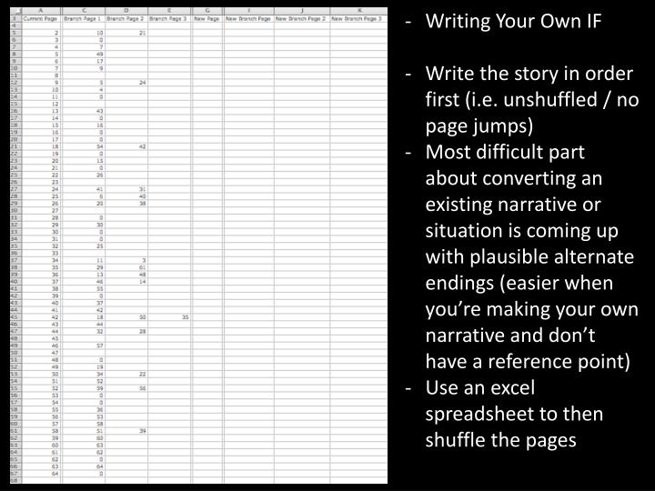 Writing Your Own IF
