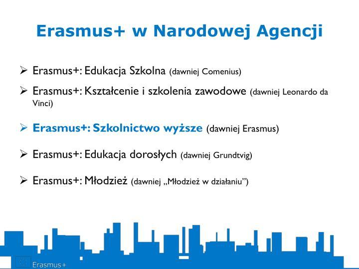 Erasmus+ w Narodowej Agencji