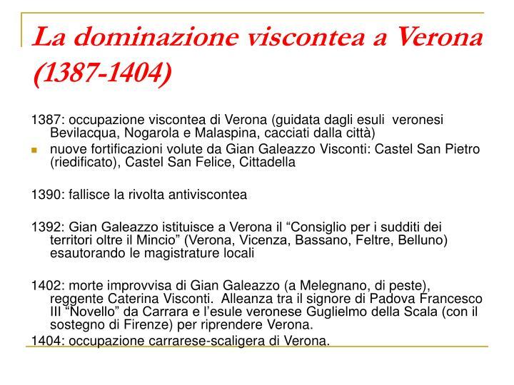 La dominazione viscontea a Verona (1387-1404)