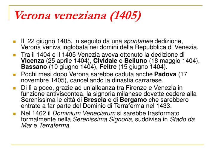 Verona veneziana (1405)
