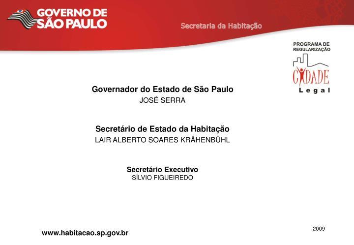 Governador do Estado de São Paulo