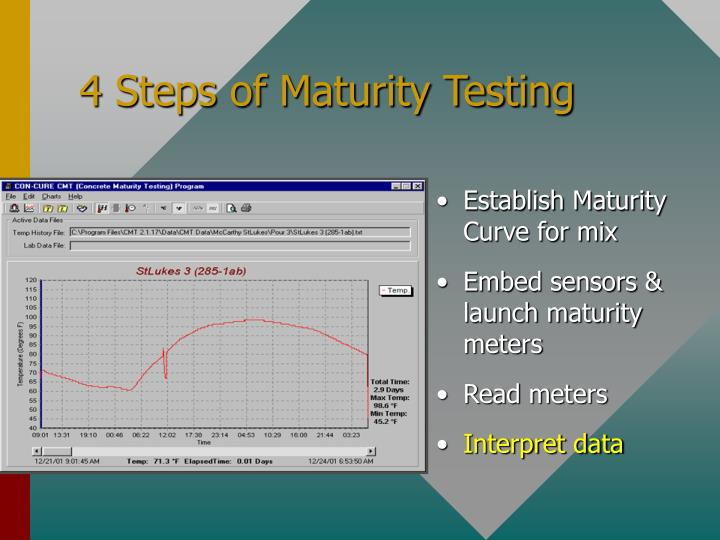 4 Steps of Maturity Testing