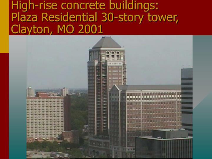 High-rise concrete buildings: