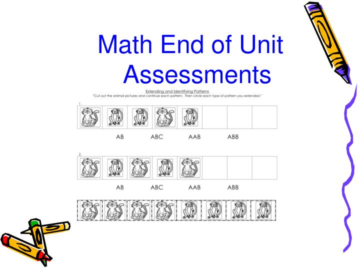 Math End of Unit Assessments