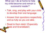 what can i do at home to help my child become and remain a successful reader1