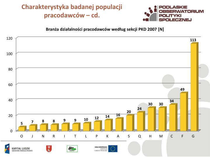 Charakterystyka badanej populacji pracodawców – cd.