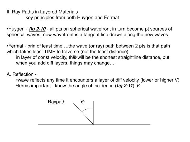 II. Ray Paths in Layered Materials