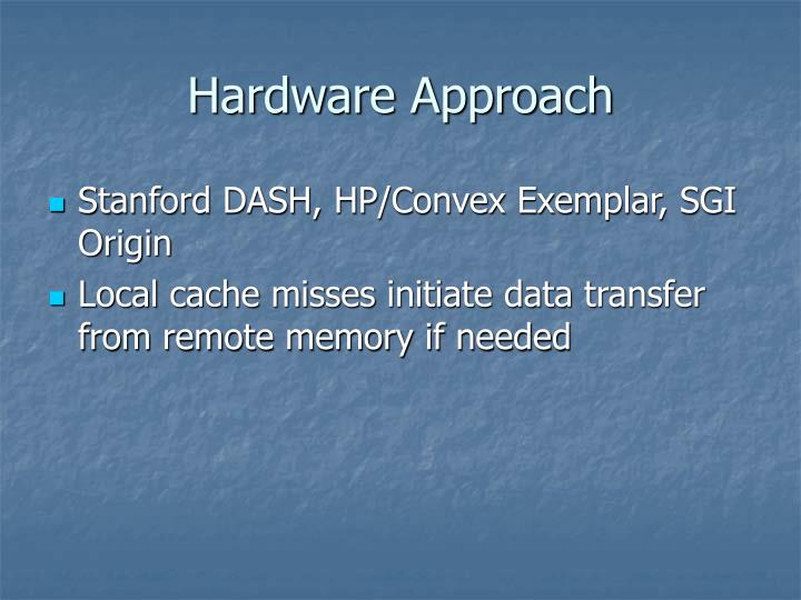Hardware Approach