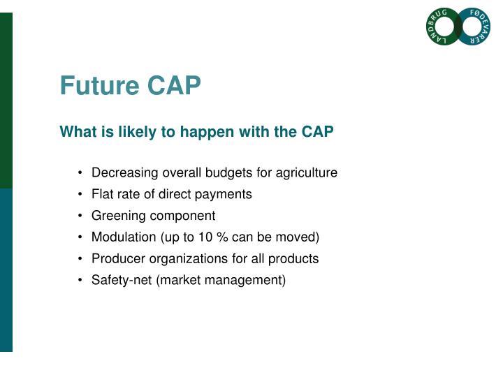 Future CAP