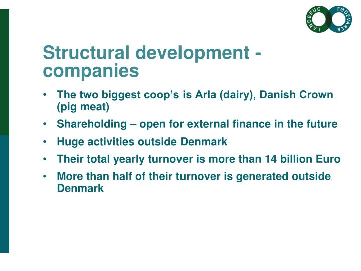 Structural development - companies