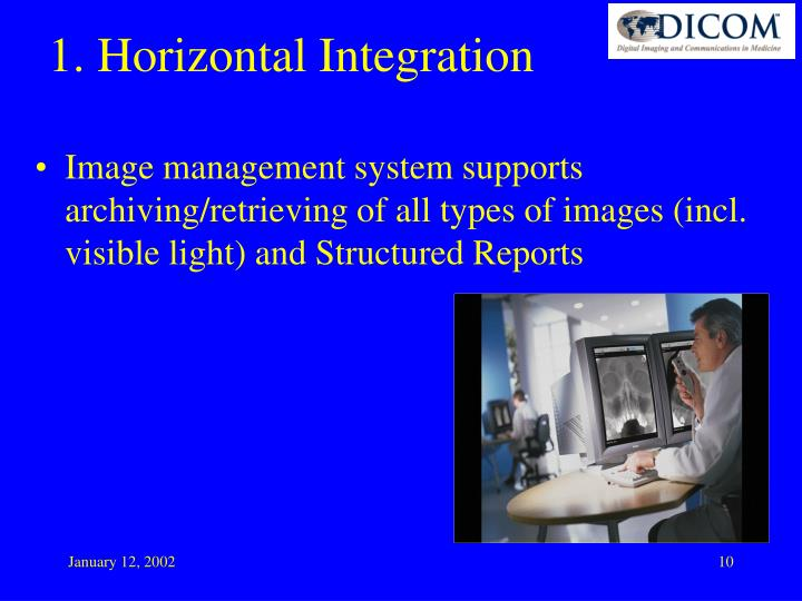 Image management system supports archiving/retrieving of all types of images (incl. visible light) and Structured Reports