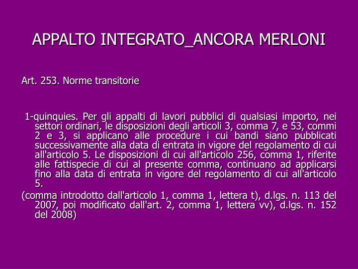 APPALTO INTEGRATO_ANCORA MERLONI