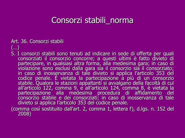 Consorzi stabili_norma