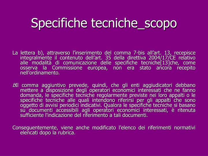 Specifiche tecniche_scopo