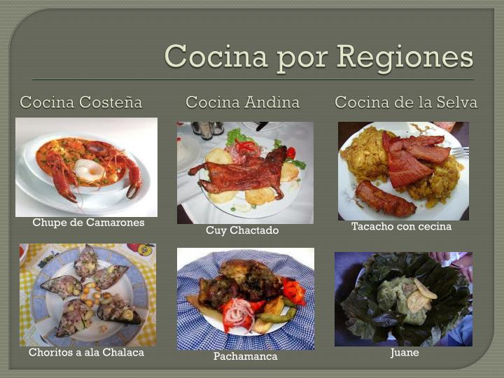 Cocina por Regiones