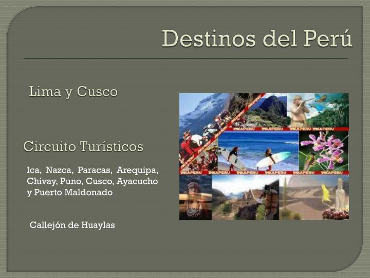 Destinos del Perú