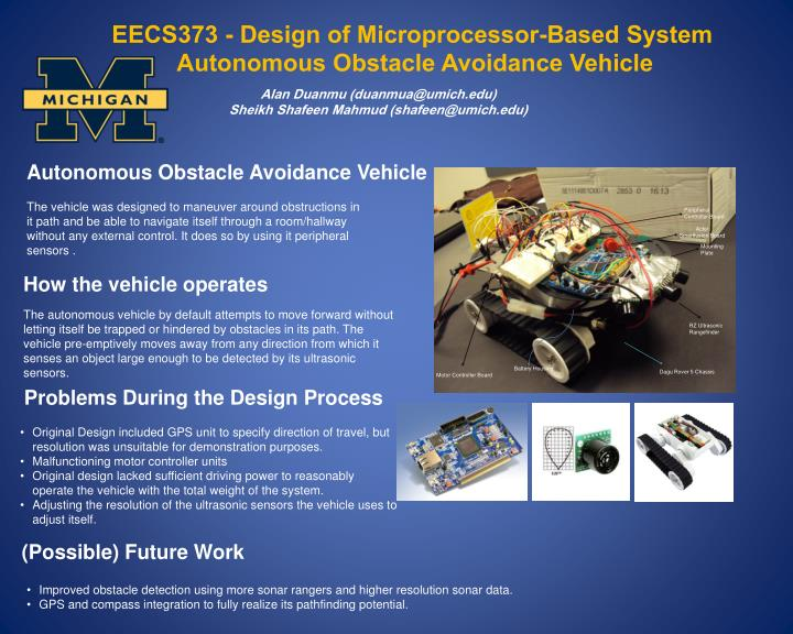 EECS373 - Design of Microprocessor-Based System