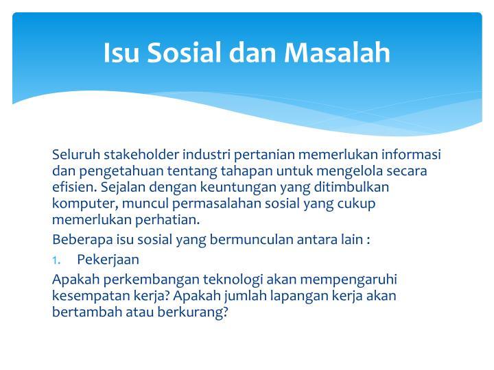 Isu Sosial dan Masalah