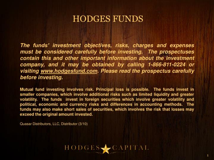 HODGES FUNDS