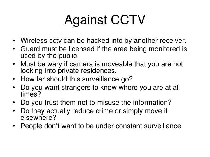 Against CCTV