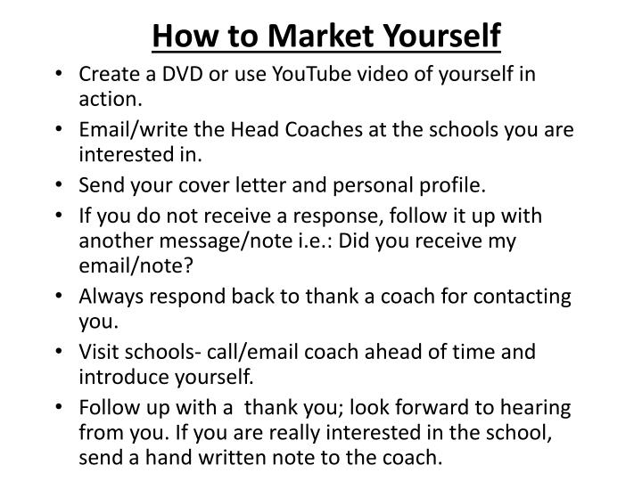 How to Market Yourself