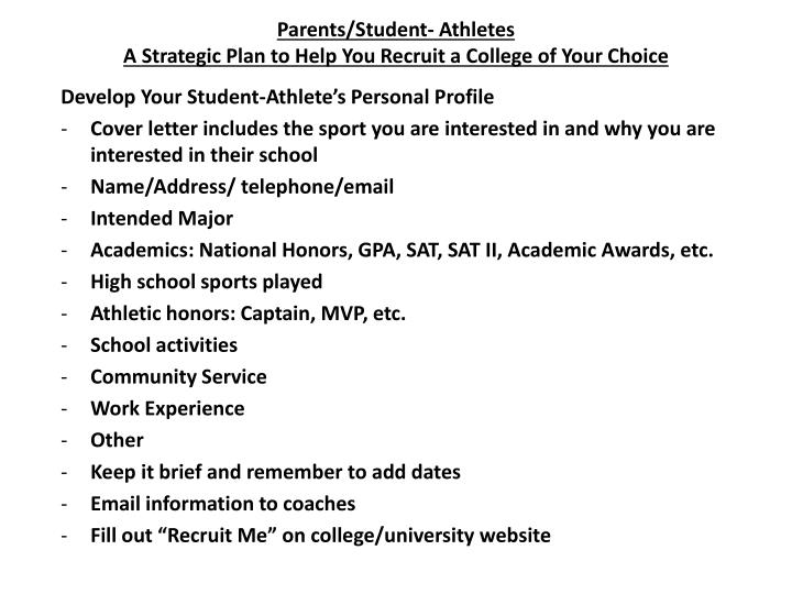 Parents/Student- Athletes