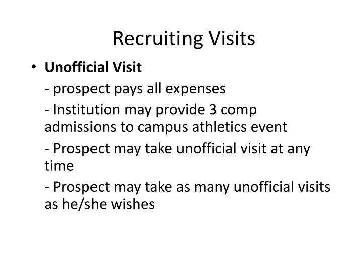 Recruiting Visits