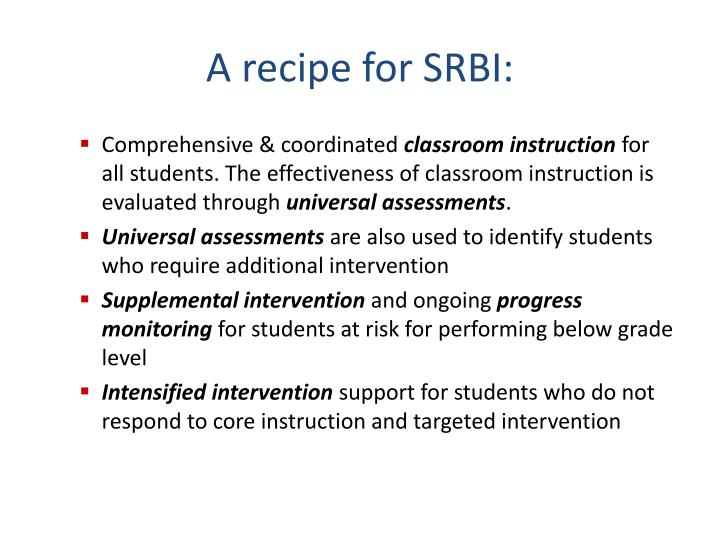 A recipe for SRBI: