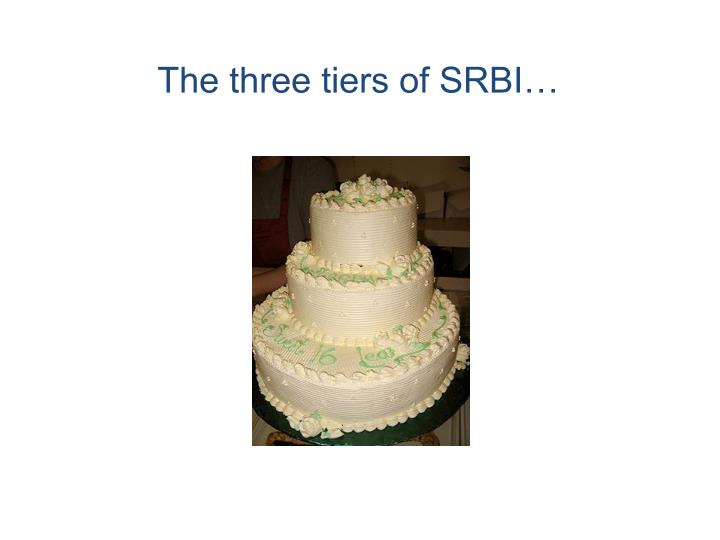 The three tiers of SRBI…