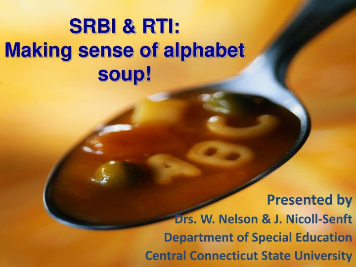Srbi rti making sense of alphabet soup