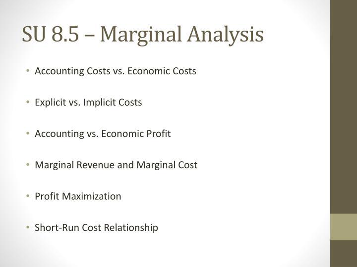 SU 8.5 – Marginal Analysis