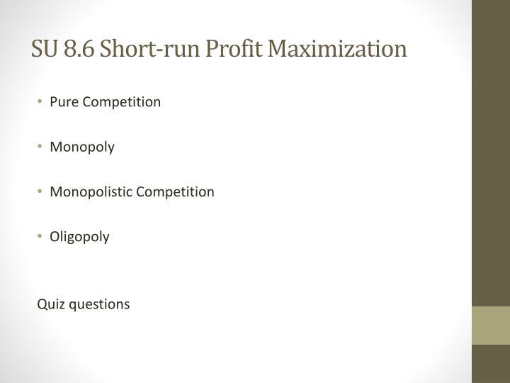 SU 8.6 Short-run