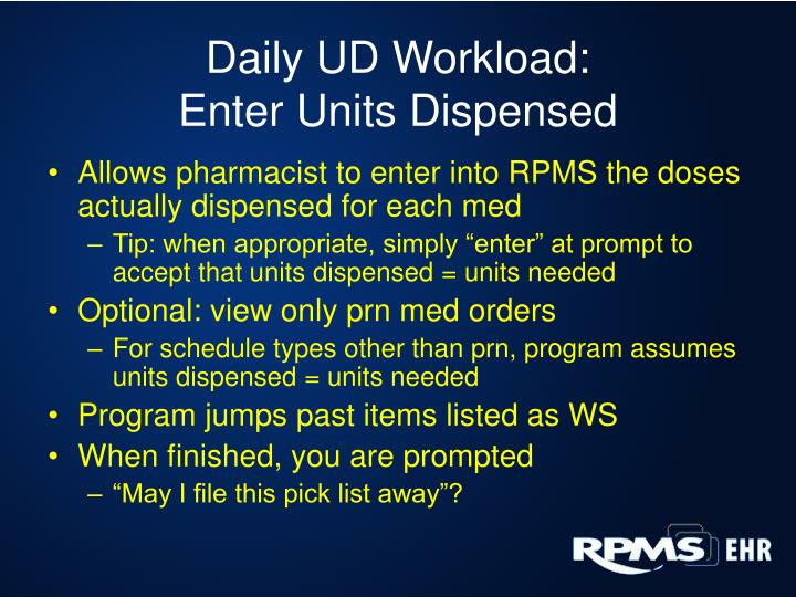 Daily UD Workload: