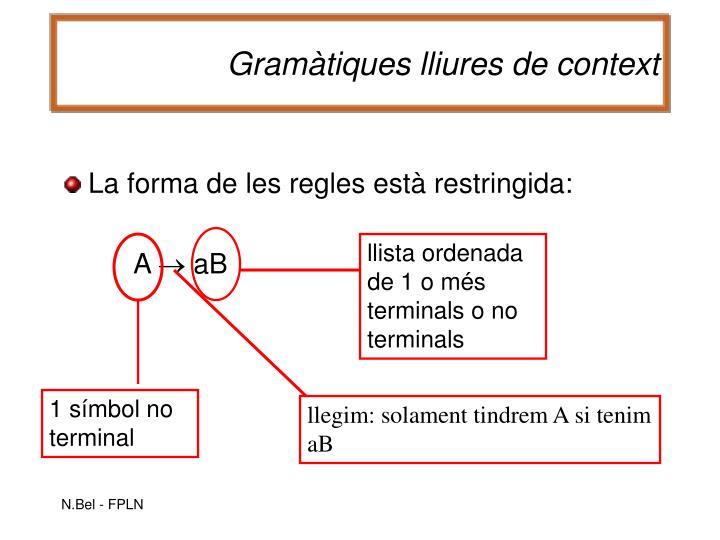llista ordenada de 1 o més terminals o no terminals