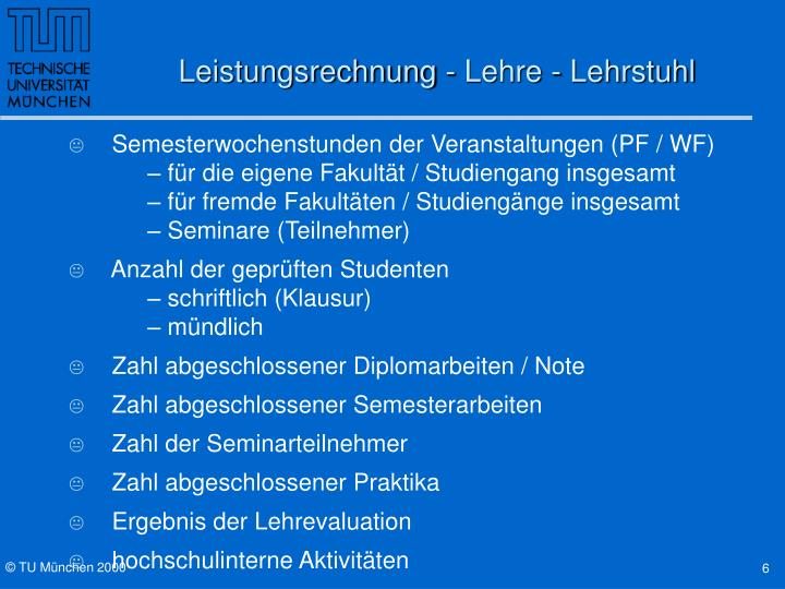 Leistungsrechnung - Lehre - Lehrstuhl