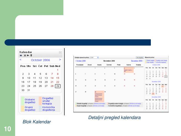 Detaljni pregled kalendara
