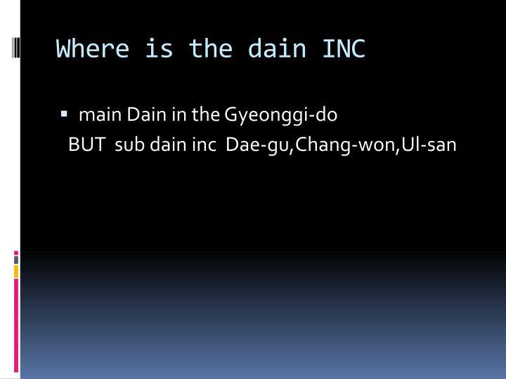 Where is the dain INC