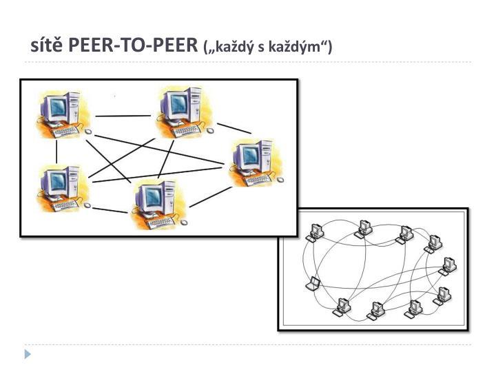 sítě PEER-TO-PEER