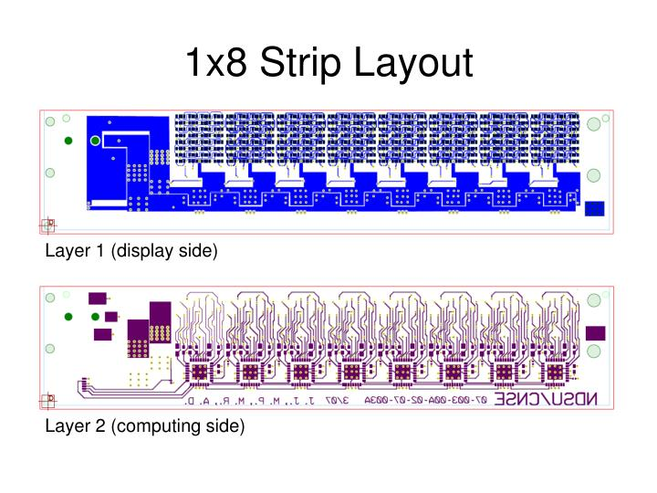 1x8 Strip Layout