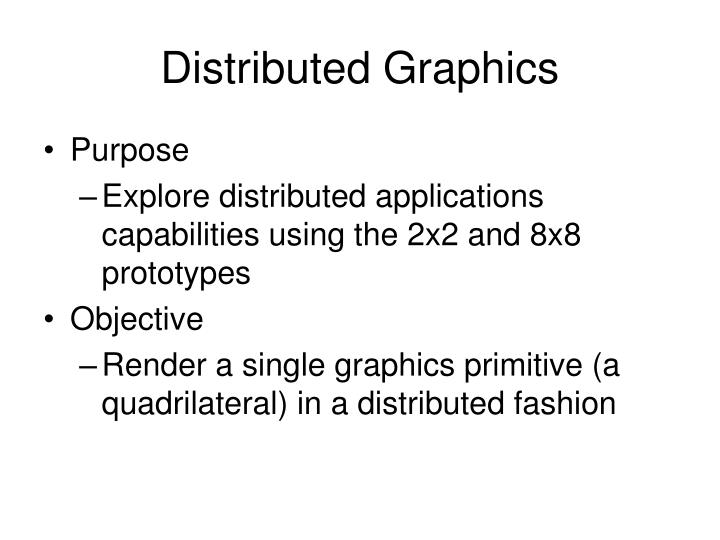 Distributed Graphics