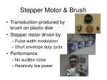 stepper motor brush