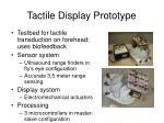 tactile display prototype