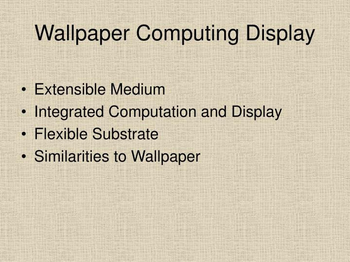 Wallpaper computing display
