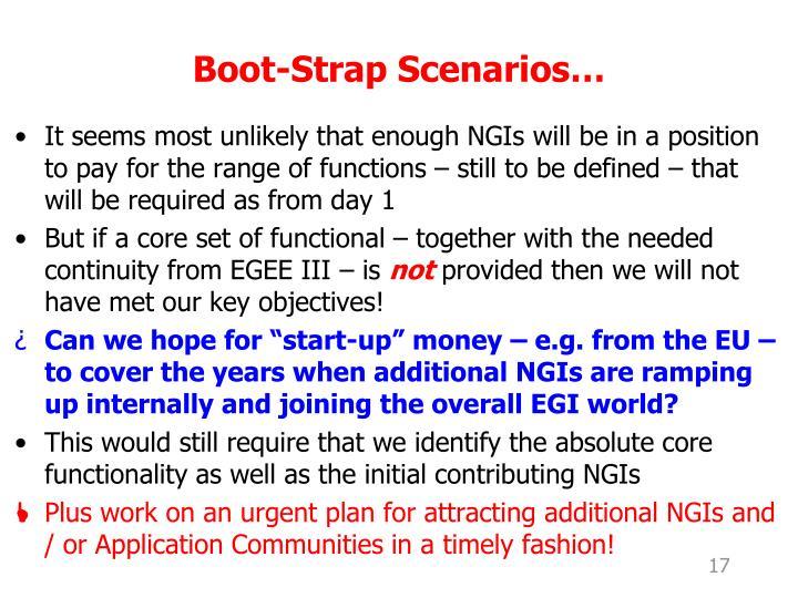 Boot-Strap Scenarios…