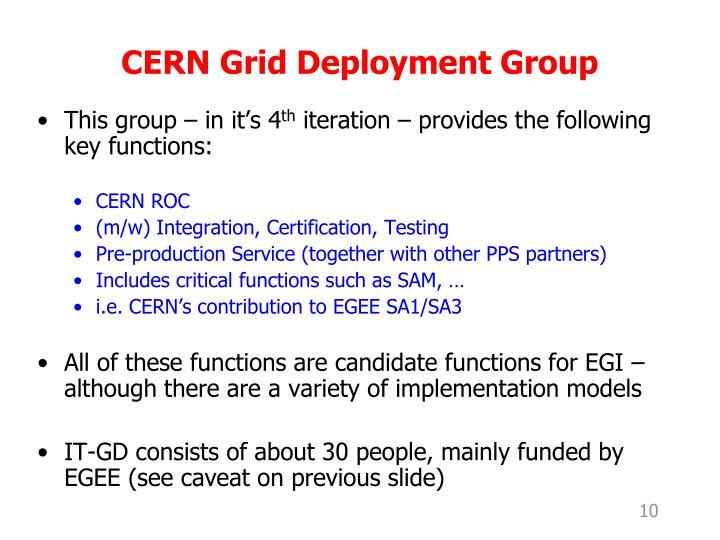 CERN Grid Deployment Group