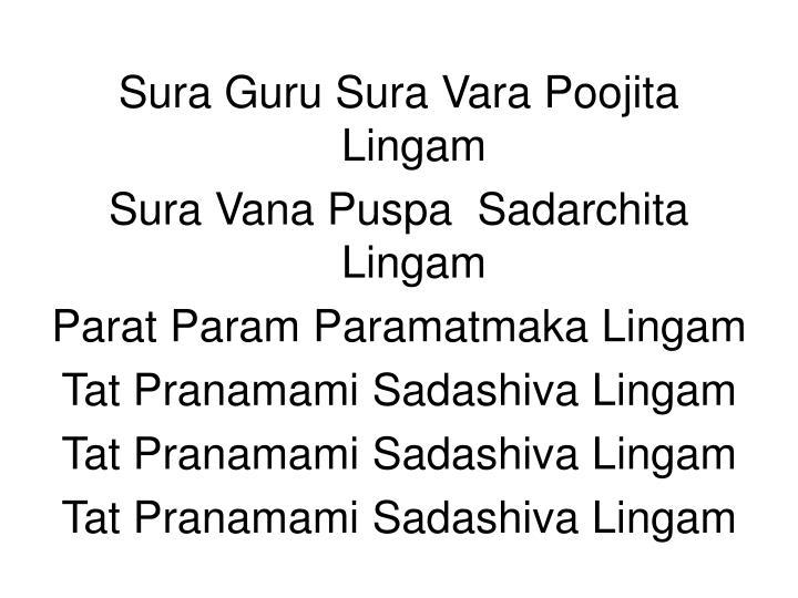 Sura Guru Sura Vara Poojita Lingam
