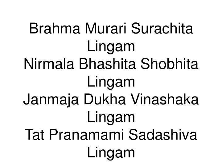 Brahma Murari Surachita Lingam